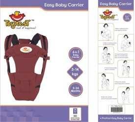 Toynest 6 in 1 Maroon Baby Carrier(Maroon Front Carry facing in)