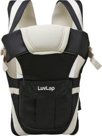 LuvLap Elegant Baby Carrier(Black, Beige Front Carry facing in)