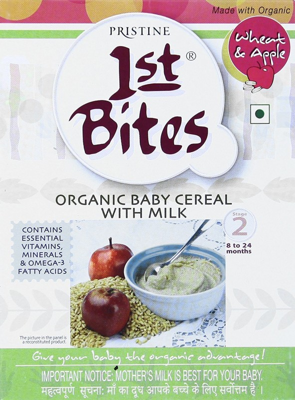 Pristine 1 BITE organic Wheat, Apple Cereal for Babies & Infants(300 g, Pack of 1)