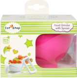 1st Step Food Grinder With Spoon (Pink)