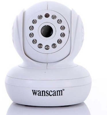 Wanscam Wifi Wireless Remote Pan/Tilt Rotate Handheld Night Vision Camera Upnp Support 32G TF Card IP Cam White(Audio & Video)