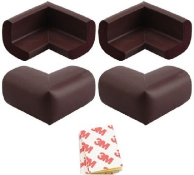 Kelu Brand Baby Soft Corner Safety Guard Included Double Sided Adhesive Tape Brown Color