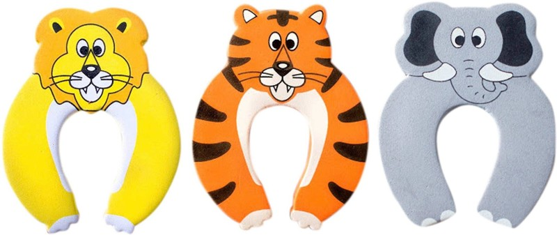 Anantha Baby Door Stopper Pack Of 3no'S (Lion,Tiger,Elephant)(Red, Yellow, Grey)