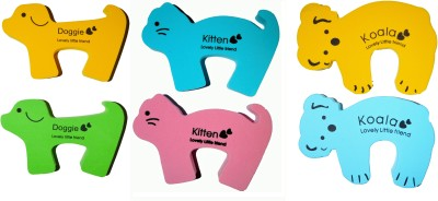 Kuhu Creations Cartoon Animal Shape Kids Safety Door Stoppers