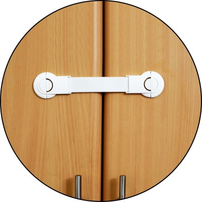 Safe-O-Kid Extra Flexible, 2-Side Open Long Multi-Purpose Child Safety Lock (Pack of 12)(White)