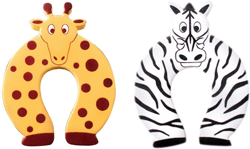 Anantha Baby Door Stopper Zebra &Giraffe(White & Orange)