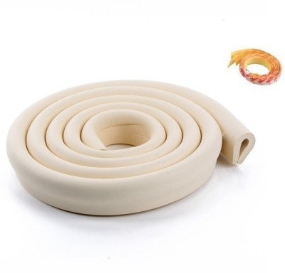 Little Grin Beige Color Baby Safety Bar For Table Edge Protection With 3m Tape