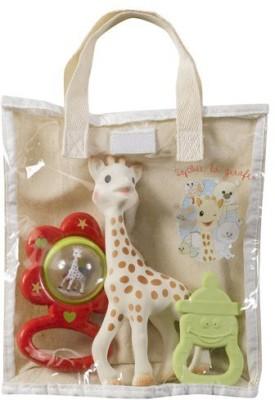 Vulli Sophie la Giraffe Cotton Gift Bag Rattle