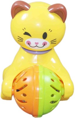 Babysid Collections Cat Movable Yellow High Quality Key Type (12cm X12cm) Rattle