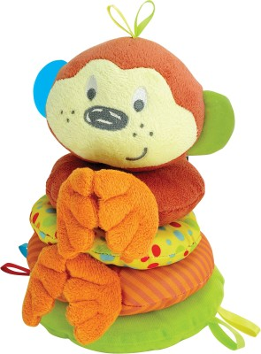 Winfun Little Pals Cheky Chimp Stacker Squkrs and Crinkle. Rattle