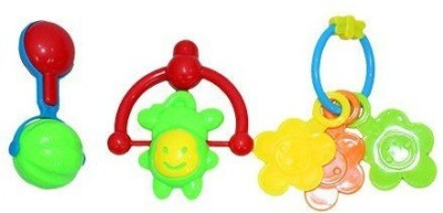 Mamaboo Rattles Set 3 pcs Rattle(Multicolor)