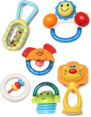 Babeez World cute baby Rattle(Multicolor)
