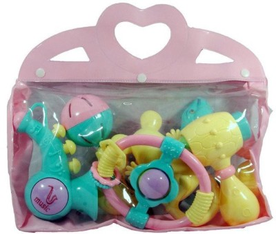 New Pinch Baby Rattles In A Bag (6 Pieces) Rattle(Multicolor)