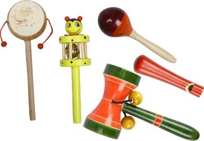 Kaatru Yellow Comboset Wooden Toys Rattle