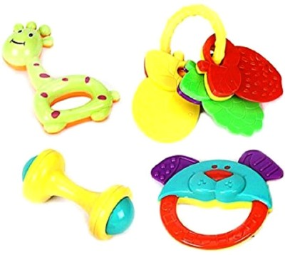 RVOLD Non Toxic Pack of 4 Rattle