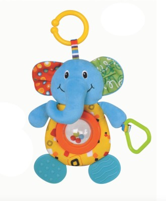 Parkfield Premium Developmental Baby Learning Toy -Teether and Hand (Elephant) Rattle(Multicolor)