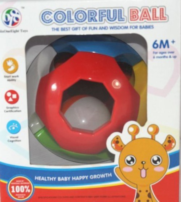 Littlegrin Colorful Ball Rattle Rattle(Multicolor)