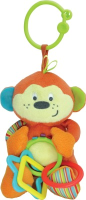 Winfun Little Pals Cheky Chimp Hnd Ratle Squkrs Crinkle Sound Rattle