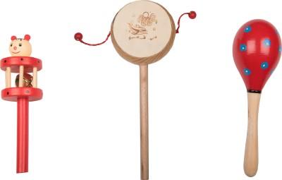 kaatru Wooden Comboset Red Tik Tik V1 Rattle