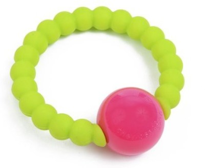 Chewbeads Mercer Rattle Chartreuse Rattle(Multicolor)