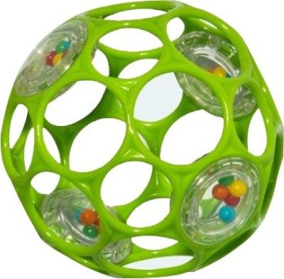 Oball Finger holes shake and roll Rattle