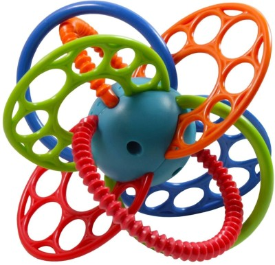 Baby Bucket Ball Flexi Loops Teething Toy Rattle(Multicolor)