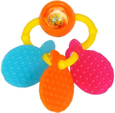 Funskool Giggles Orange Teether Rattle