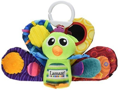 Lamaze Play & Grow Jacques the Peacock Take Along Toy Rattle