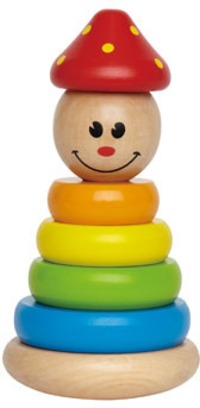 Hape Stack And Swivel Clown Rattle(Multicolor)