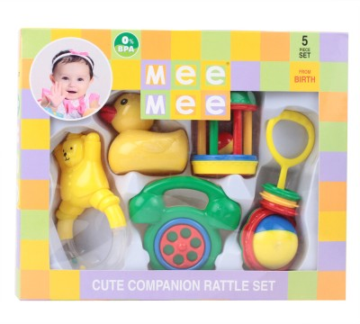Mee Mee Rattles Gift Set - 5pcs (Ball) Rattle