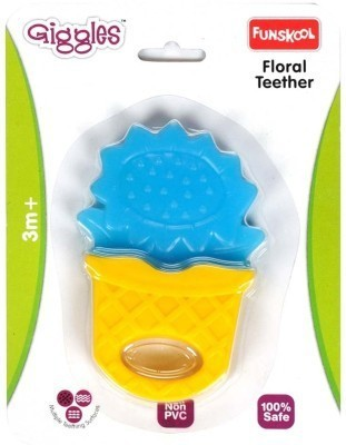 Funskool Floral Teether Rattle(Multicolor)