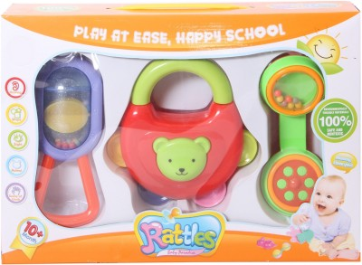 Priya Exports Paradise Rattle(Green, Orange, Yellow)
