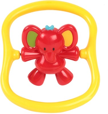 Mothercare Spinner Rattle Assortment - Elephant Rattle(Red, Yellow)