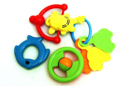 Smiles Creation Baby Rattle(Set Of 4 Pcs) Rattle