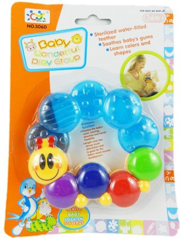 SUPERVISION Rattle Teether With Water Fill Rattle(Multicolor)