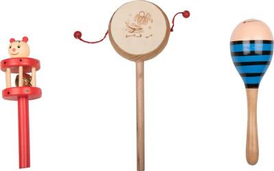 Airwind Wooden Comboset Red Tik Tik Rattle