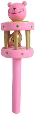 DCS Wooden Rattles Toy (Pink) Rattle(Pink)