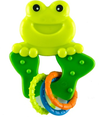 Mera Toy Shop Rattle - Frog Rattle(Yellow, Green)