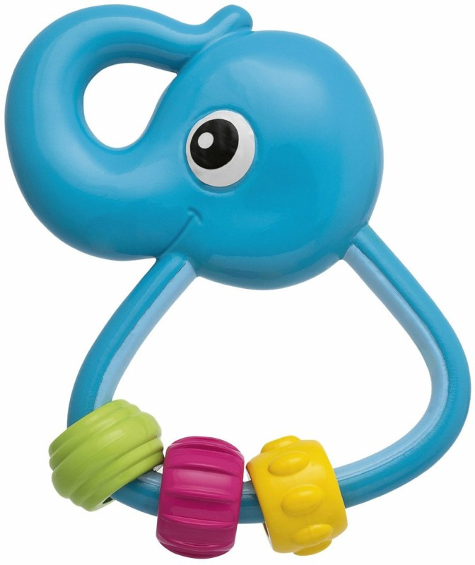 Chicco Easy Grasp Elephant Rattle Rattle(Multicolor)