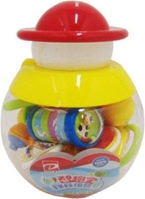 Baby Bucket Baby Rattle Set( 8pc Set) Rattle