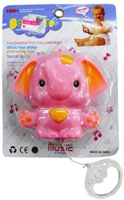 Shop & Shoppee Elephant String Musical Toy Rattle Lullaby Sleep Calm Music For Baby Rattle
