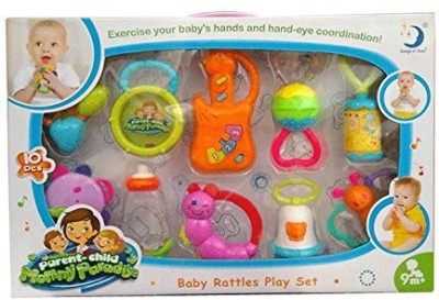 Planet of Toys RATTLES SET Rattle(Multicolor)