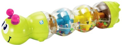 B Kids Mini Caterpiller Rattle(Multicolor)