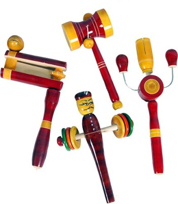 MNC Combo of(Varvara+Damru+kitkiti+rattle) Rattle