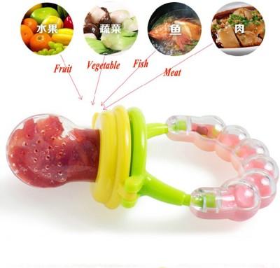 Koochie koo Fresh Fruit Vegetables Food Nibbler Cum Rattle Teether Rattle
