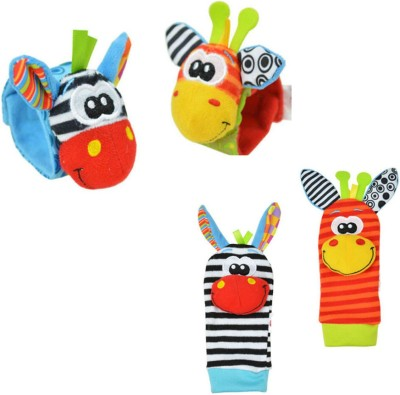 3kFactory Baby Hand and Foot Rattle(Multicolor)