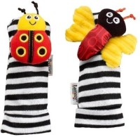 Kuhu Creations Lamaze Plush butterfly insect Leg Rattle(Multicolor)