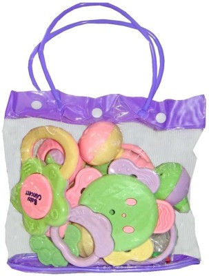 New Pinch Baby Pouch of 7 pcs Rattle