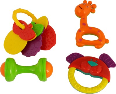 RVOLD Set Of 4 Pieces with teether Rattle