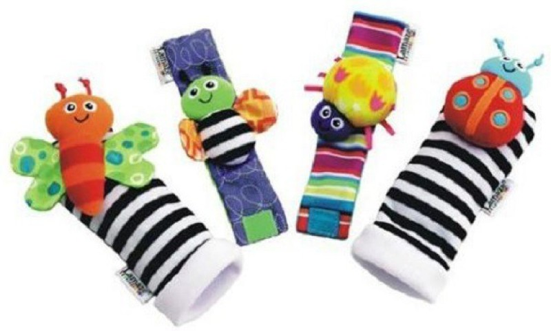 Lamaze Baby Wrist And Foot Rattle(Multicolor)